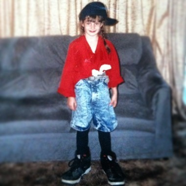 """Kelly Dempsey, a finalist on Season 14 of Lifetime's """"Project Runway"""" in a photo from her childhood growing up in Monson."""