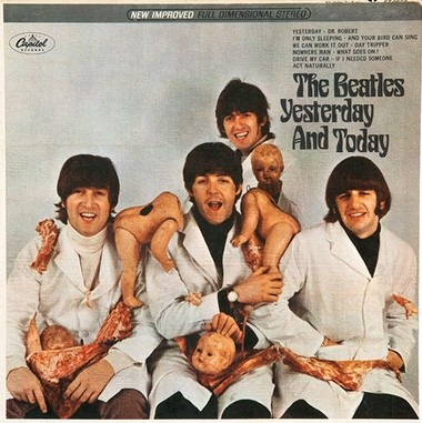 "Cover artwork for The Beatles 1966 album ""Yesterday And Today."""