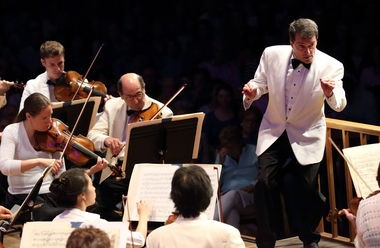 Jacques Lacombe leads the Boston Symphony Orchestra on Opening Night at Tanglewood on Friday in Lenox, Mass.