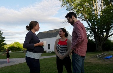 From left, Lily Francis, Karen Ouzounian and Jonathan Biss last week at Marlboro College, where the Marlboro Music Festival is held every summer in Marlboro, Vermont.