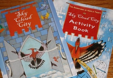 """The Adventures of Hope & Trusty, Sky Cloud City"" was written by Maria T. Kamoulakou-Marangoudakis of Springfield and illustrated by Aspasia Arvanitis of Agawam."