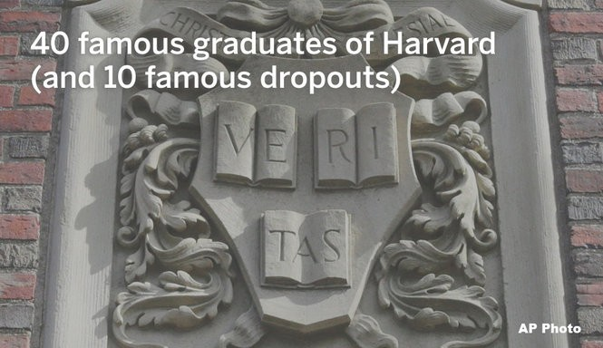40 famous Harvard graduates and 10 famous Harvard dropouts
