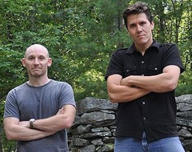 "Producer Tony Dunne and host Jeff Belanger of ""New England Legends."""