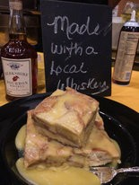 Whiskey Bread Pudding by Steaming Tender Restaurant of Palmer.