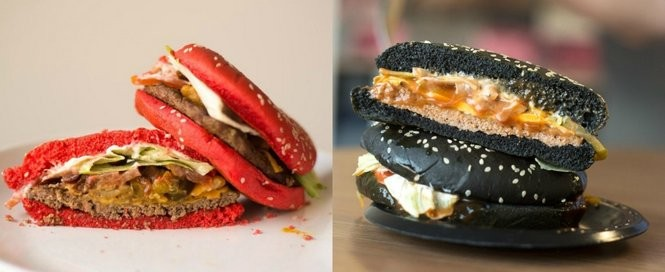 Who wore it best: The Red Whopper (left) or the Black Whopper (right)?