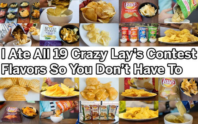 I ate all 19 Lay's crazy contest flavors so you don't have to