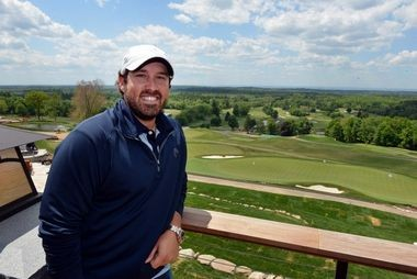 GreatHorse president Guy Antonacci stands on a deck overlooking the golf course and the near-completion of a three-year, $45 million renovation project. The club opened to member this weekend.