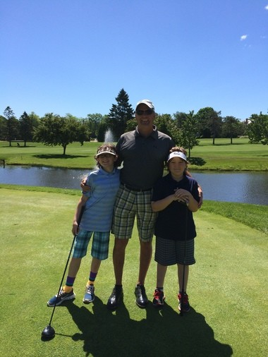 Jay Martin and boys Jack and Kellen enjoy golf for exactly that - enjoyment.