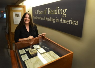 """The Smith College Neilson Library is hosting """"A Place of Reading, Three Centuries of Reading in America."""" The exhibit is curated by Cheryl Harned, a doctoral student in history at UMassâ-Amherst."""