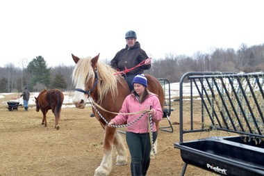 A student takes a ride at Blue Rider Stables in South Egremont.