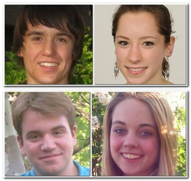 Simon Elliott, Mel Devoney, Alexis Foley and Daniel Kamlarz, clockwise from top left, have attended the summer program at the Center for Environmental Civics.
