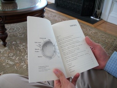 "Dr. Andrew Lam's new book ""Saving Sight"" shows readers a cross-section of the eye viewed from above."