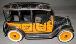 """Toy Taxi from """"Vintage Cast-Iron Toys"""" exhibit, DMFA"""