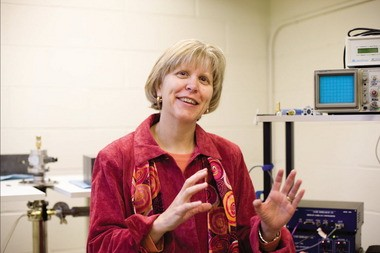 Mount Holyoke College professor Darby Dyar is studying ways man can one day colonize the moon.