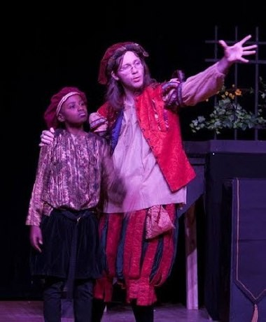 Young Shakespeare Players East Makes its Franklin County debut with Twelfth Night at the Shea Theater in Turners Falls. Here, -Sam Picone-Louro as Maria, Leo Sanzone as Malvolio and Annabelle Fitch as Olivia (l to r)