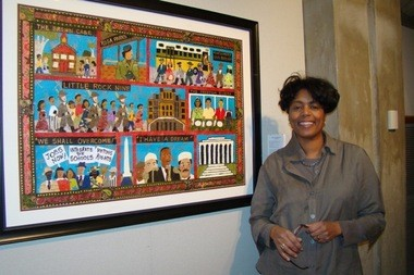 The Civil Rights Movement Quilt will be among an exhibit of Robin J. Miller's work at Elms College.