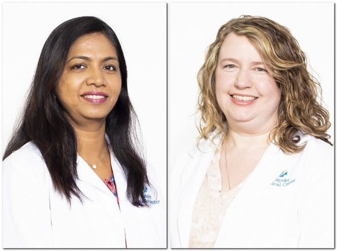 From left to right, Dr. Rani Athreya, Kristie Harrington, FNP