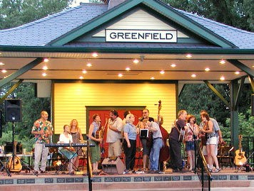 Musicians perform at the Greenfield Energy Park as part of Coop Concerts.