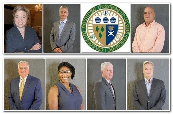 From left to right, bottom to top: Marc Falco, Pascale Desir, Richard K. Sullivan, Jr., Steven Gobel, Beth Anderson, Fawwaz Habbal, Jose Fernandez