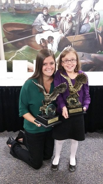 The 2014 Sadowsky Visionary Award was presented to Liz Rappaport, left, and Allie Guarente, who received their honors at a special presentation during the annual meeting of The Jimmy Fund Council of Western Massachusetts in October.