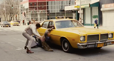 """A modified Worcester Main Street makes a number of appearances in """"American Hustle,"""" such as this scene from the trailer for the film."""