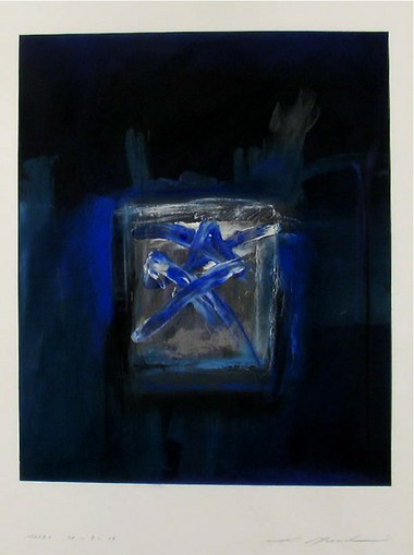 Musashi, Atsuhiko, Japanese, born 1952, Marks, 88-9-16, 1988, painting, acrylic, gift of The Wise Collection, Joanne and Douglas Wise; gift of Atsuhiko Musashi via The Wise Collection, Worcester Art Museum.