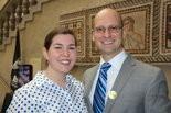 Armin Opitz and his girlfriend, Danielle Pecaut, after he became a citizen.
