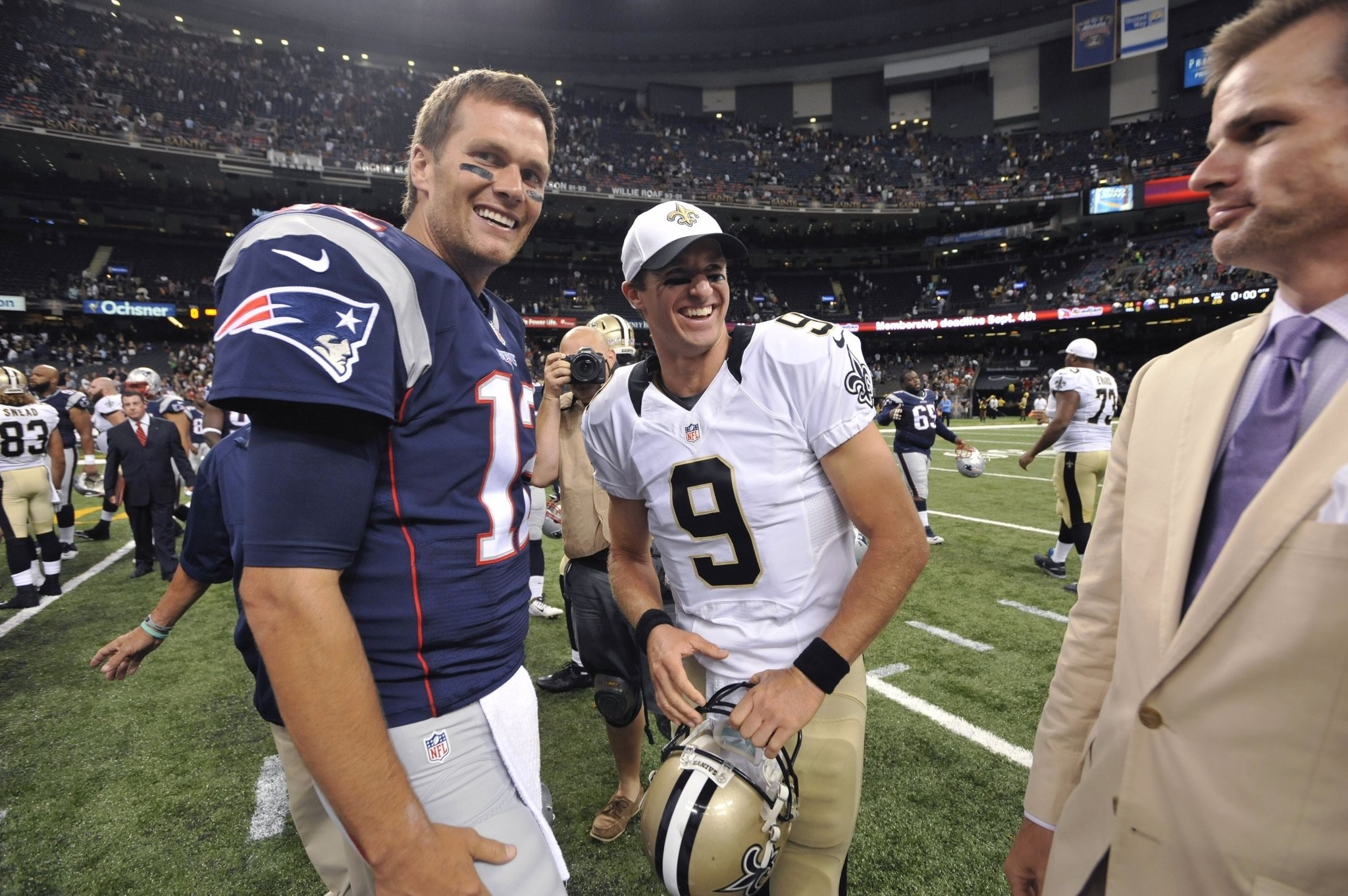 Tom Brady Reflects On Prior Matchups With Drew Brees Including Victory Over Purdue While At Michigan Masslive Com