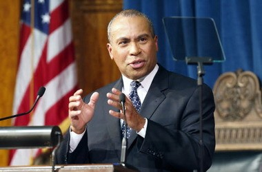 Massachusetts Gov. Deval L. Patrick Patrick is seen at the Statehouse last month while giving his State of the State address.