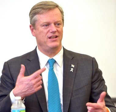 03.01.2017 | SPRINGFIELD -- Massachusetts Governor Charlie Baker meets with the editorial board of The Republican.