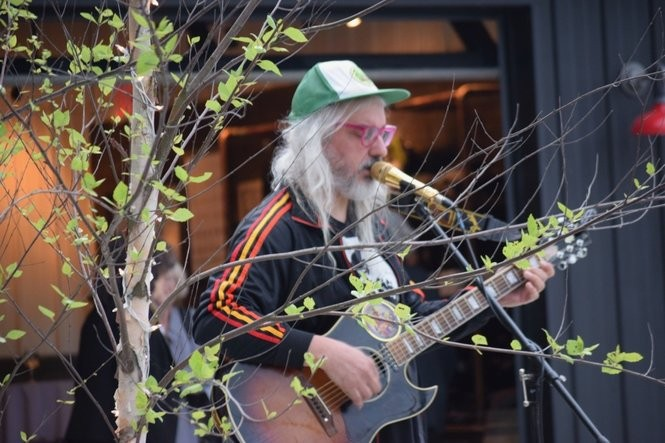 J Mascis plays an acoustic set at Black Birch Vineyard in Hatfield on June 6, 2018.