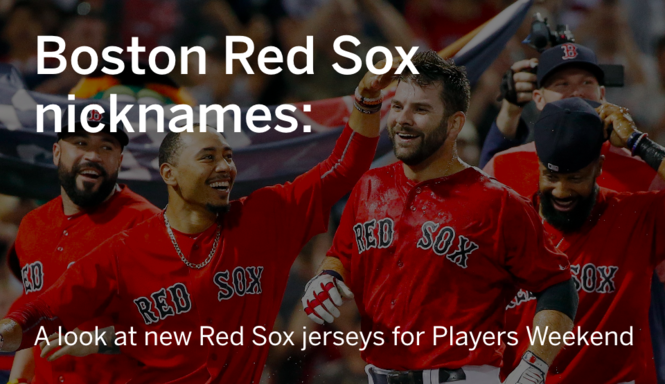 newest eb69b 79444 Here are the nicknames that Boston Red Sox players will wear ...