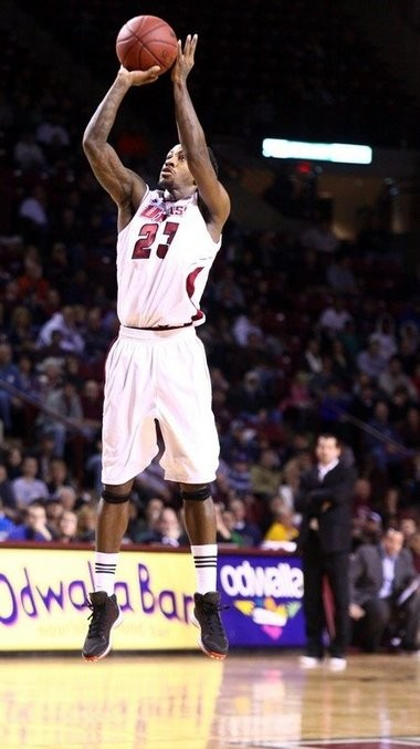 Freddie Riley, pictured here against Richmond on Sunday, was a part of UMass' big win at La Salle despite shooting 2 for 7 from the field.