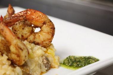 Shrimp and Chorizo risotto.