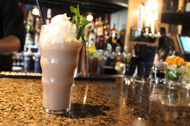 """The Fix features """"adult"""" takes on classic burger restaurant beverages such as this spiked milkshake."""