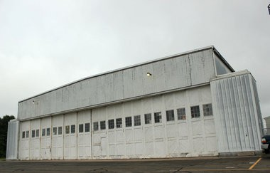 Hangar two is pictured July 3, 2014, at Westfield-Barnes Airport.