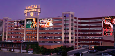 MGM Springfield officials recently showed the Massachusetts Gaming Commission renderings of a proposed sign across from I-91 and some street-level drawings, including this artist rendering.