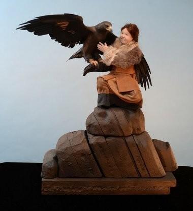 A piece by Springfield sculptor Lisa Lichtenfels.