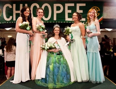 The Chicopee Colleen and her Court; (l-r) Julia Lavigne, Colleen Humel, 2014 Chicopee Colleen Kristen Hubert, Emily Doiron. (The Republican photo)
