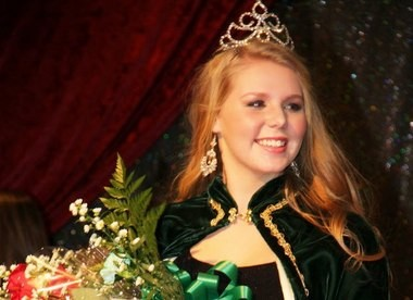 Paige E. Templeton, 17, of Westfield, is crowned the 2014 Colleen during the Sons of Erin Colleen Ball held Fri. Feb. 7 at Chez Josef in Agawam. (The Republican)
