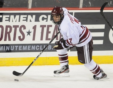 Michael Pereira has been red-hot lately for the Minutemen, scoring in five out of the last six games, but his effort wasn't enough Saturday.
