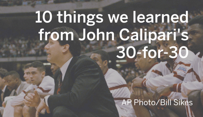 c5e76bbca3c3 John Calipari 30 for 30  10 things we learned from  One And Not Done ...