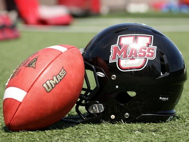 UMass offensive lineman Stephane Milhim will participate in the NFL Combine on Saturday.