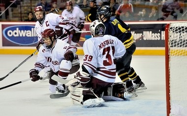 Kevin Czepiel (3) gave his all for four years at UMass.