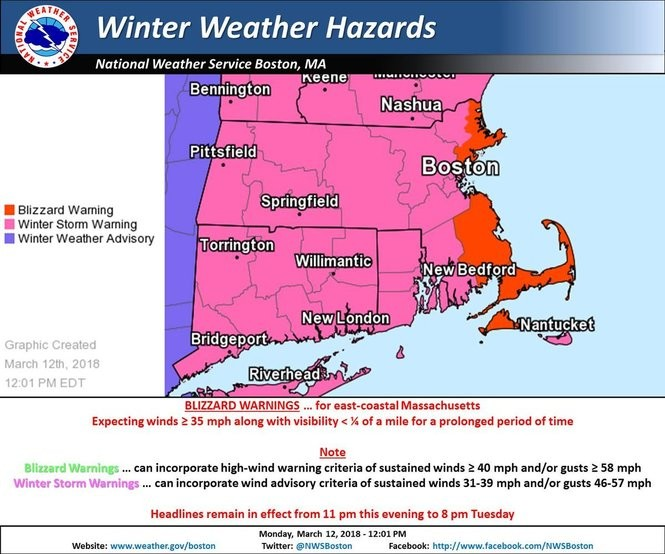 What to know about Tuesday's nor'easter, expected to bring