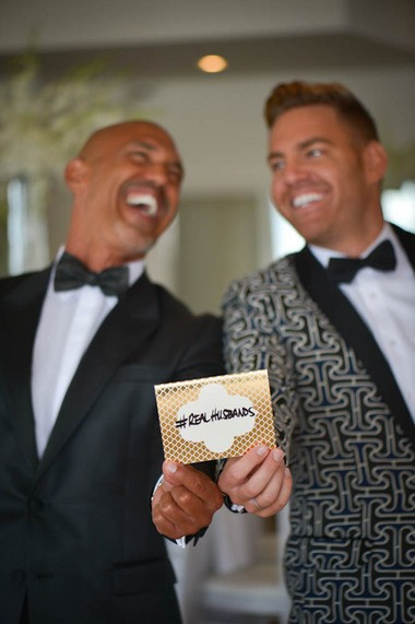 Grooms Cal Hall and Bobby Scott. Photo by Dani Fine Photography.