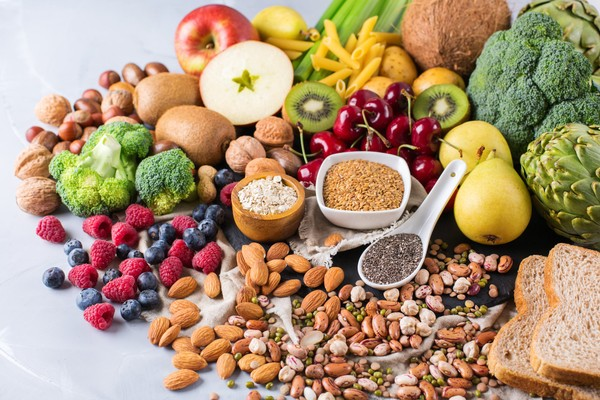 Foods providing fiber are colorful, nutritious and delicious. There's no beating that!