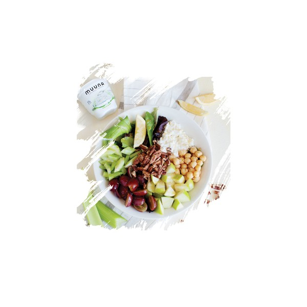 Work toward protein, fruit and vegetable goals with this yummy Waldorf salad.