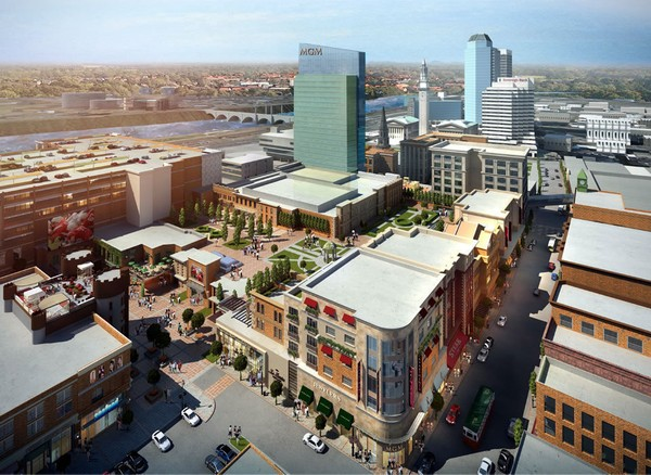 A rendering of the proposed MGM Springfield casino.