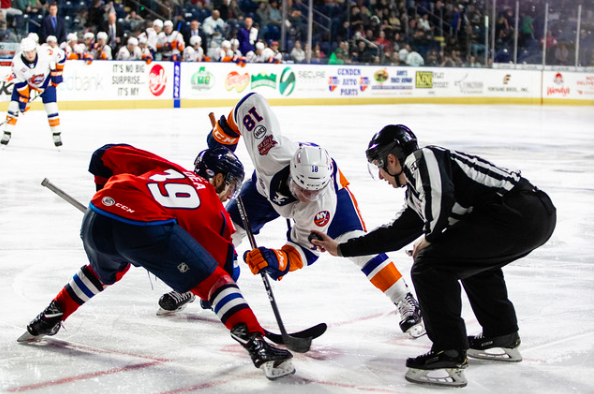 The Springfield Thunderbirds defeated the Bridgeport Sound Tigers on April 12, 2019 at the MassMutual Center. (KELLY SHEA / SPRINGFIELD THUNDERBIRDS)